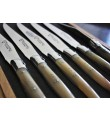 6 Laguiole En Aubrac Horn spets biff knivar