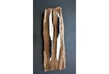 6 Laguiole En Aubrac Ebenholts trä Biff knivar