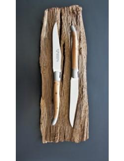 12 Laguiole En Aubrac Enbärträ Biff kniva